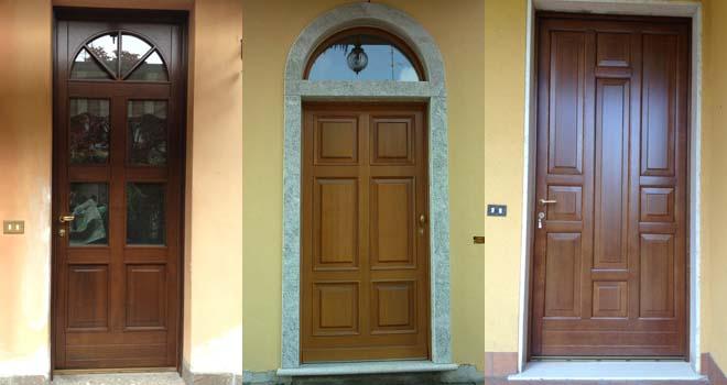 falegnameria varese mobili su misura - serramenti, basculanti ... - Porta Dingresso In Legno Massello