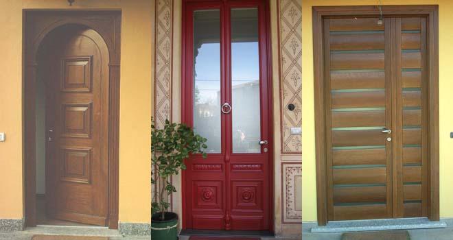 Portoni ingresso legno e vetro terminali antivento per - Portoni da esterno prezzi ...